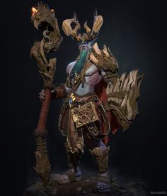 ArtStation - The King of druid of the talon, Slava Gedich