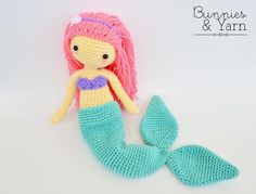 CROCHET PATTERN Mindy the Mermaid Doll by BunniesandYarn on Etsy