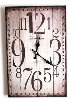 Decoration Kitchen Wall Clocks Antique Shabby Rustic kitchen