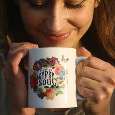 Unleash your Gypsy Soul every morning with a hot cup of delicious coffee steaming out of this wonderful mug!