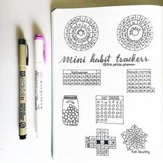 What a perfect collection of mini #habittracker from @the.petite.planner.