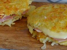 Křupavé bramborové placky se šunkou a sýrem bez mouky a vajec! hotové za 15 minut!