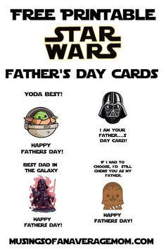 Star Wars Father Day - Printable Star Wars - Ideas of Printable Star Wars #starwars #printable #files - Daddy Birthday, Star Wars Birthday, Girlfriend Birthday, Birthday Gifts, Birthday Cakes, Diy Father's Day Gifts, Father's Day Diy, Dad Gifts, Grandparent Gifts