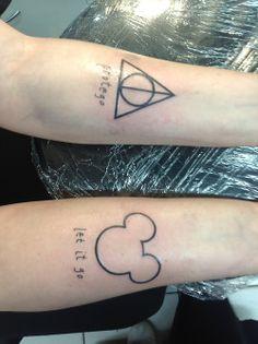 Disney tattoo with 'Let it Go' written underneath