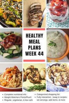 Healthy Meal Planning Made Easy: Money Saving Tips & Week 44 Meal Plans - Slender Kitchen