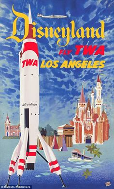 The adverts were created for the biggest airlines of the day, including TWA, which no long...