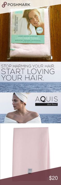 "AQUIS Quick Drying Hair Towel AQUIS Super Absorbent Quick Drying Luxury Aquitex Microfiber Long Hair Towel.                      • Dries Hair Faster, Saves Time                                      • Reduces Risk of Split Ends                                      • Less Blowdrying means Healthier Hair                  • Lightweight and Convenient: 18"" x 44""                   • Easily Wraps into a Turban                                       • Ideal for Everyday Use at Home or the Gym AQUIS…"