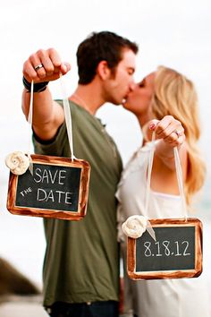 Wedding Pics save the date photo ideas couple with signs Brittany Janelle Photography - Save the date card can set the style of the wedding and your guests will know what to expect. See our creative Save the date photo ideas for inspiration! Faire Part Save The Date, Unique Save The Dates, Wedding Save The Dates, Save The Date Designs, Save The Date Templates, Save The Date Ideas Diy, Save The Date Magnets, Save The Date Cards, Save The Date Invitations