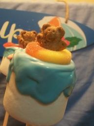Beach Party Marshmallow Pops  Gummy Life savor with bear in middle