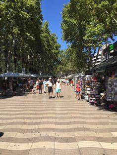 Rambla de Catalunya (popular street for tourists) - Barcelona, Spain