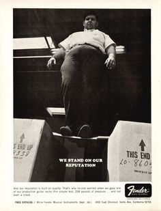 Fender advertisement (1967) We Stand On Our Reputation