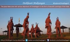 The place feels alive with various depictions of Chhattisgarh in the form of beautiful paintings of the tribes.#ExploreChhattisgarh