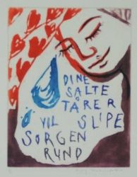 Dine salte tårer vil slipe solgen rund av Bjørg Thorhallsdottir Drink Sleeves, Dining, Food