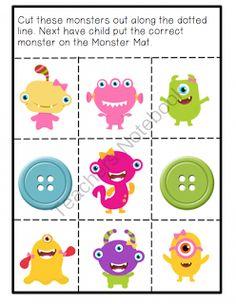 Preschool Printables: Monster