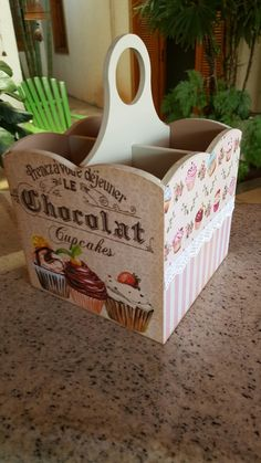 Decoupage Box, Decoupage Vintage, Shabby Chic Boxes, Cutlery Holder, Pinterest Crafts, Wooden Art, Painting On Wood, Wood Projects, Stencils