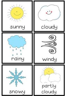 Weather Chart by Jennifer Dibbert Preschool Weather Chart, Weather Activities Preschool, Preschool Charts, Teaching Weather, Preschool Arts And Crafts, Kindergarten Art Projects, Free Preschool, Preschool Printables, Preschool Science