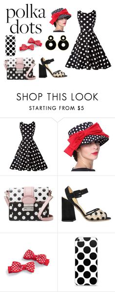 """Polka Dotted Dreaming"" by massieblock2003 ❤ liked on Polyvore featuring RED Valentino and Charlotte Olympia"