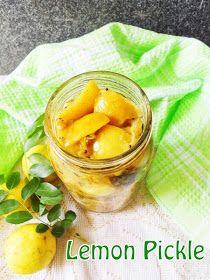 Cooking Is Easy: Lemon Pickle/Vella Naranga Achar (Kerala Style) Lime Pickles, Lemon Pickle, Kerala Recipes, Kerala Food, Cantaloupe, Sweet Tooth, Fruit, Vegetables, Cooking