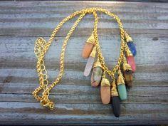 Image via We Heart It #beige #black #blue #bohemian #boho #brown #gold #goldnecklace #gypsy #handmade #hippie #jewelry #necklace #orange #pink #red #tan #bohochic #gemstone #hippiechic #gypsysoul #gemstonenecklace #bohonecklace #threadedchains