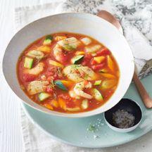 Provenzalische Seelachs-Garnelen-Suppe