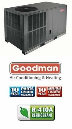 2.5 Ton 13 Seer Goodman Package Air Conditioner - GPC1330H41 by Goodman. $1439.00. This product is eligible for free shipping within the continental United States. Package Unit Model No.GPC1330H41 | 10 Year Warranty on Parts, 10 Year Warranty on Compressor, Single Phase, 208/230 Volt, Square-to-Round Adapters Included, Package Unit P. Save 29%!