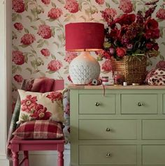 Find sophisticated detail in every Laura Ashley collection - home furnishings, children's room decor, and women, girls & men's fashion. Red Cottage, Cottage Style, Cozy Cottage, Garden Cottage, Shabby Cottage, Shabby Chic Furniture, Painted Furniture, Furniture Ideas, Furniture Design