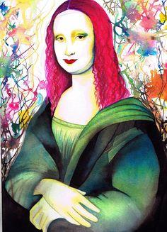 Mona Lisa limited edition signed art print.