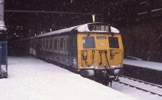 Thick Snow at London Liverpool Street Train Station Liverpool Street London England in the very cold weather in January 1982