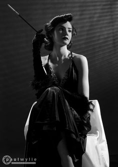 Femme Fatale (Paul Wylie Photography) Tags: lighting white inspiration black film fashion hair studio actors clothing nikon eva noir films femme models makeup agency hollywood movies 50s killers fatale contrasts gobo gardner styling 40s directors stylist actresses d7000