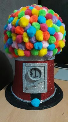 Crazy hat day gumball machine
