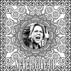 Nevertheless She Persisted: The Elizabeth Warren Coloring Book