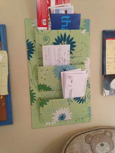 Fabric mail organizer school papers letter bills sorter hanging mail sorter left over cardboard fabric hot glue study nookmail sorterdiysbricolagedo it yourselffai solutioingenieria Choice Image