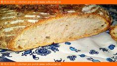 Domáci biely ošatkový kváskový chlieb Ingrediencie 250 g aktívneho kvásku z hladkej bielej hl chlebovej múky 250 g hladkej svetlej chlebovej múky T 650 250 g hladkej múky extra špeciál 00 300 ml nesýtenej minerálnej vody Bonaqua/inej nesýtenej 1 zarovnaná polievková lyžica soli Inštrukcie Recept na Kvások z hladkej bielej chlebovej múky je TU – … Banana Bread, Desserts, Food, Tailgate Desserts, Deserts, Essen, Postres, Meals, Dessert