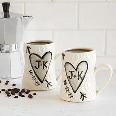 Personalized Porcelain Faux Bois Mug Set Christmas Gifts For S Mugs Wedding Anniversary