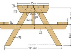 Picnic Table Plans Picnic table plans Shopping list included See below for tools and A picnic table is a project you can buy all the material Build A Picnic Table, Wooden Picnic Tables, Backyard Picnic, Pallet Furniture, Furniture Plans, Diy Wood Projects, Wood Crafts, Woodworking Crafts, Woodworking Plans