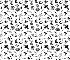 Science - Small fabric by thin_line_textiles on Spoonflower - custom fabric