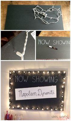 She's crafty: Movie teen birthday party #movieroomdecor