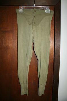 Vintage Men's U.S. Military Long John Type Pants~Size: Unknown   eBay