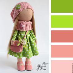 Купить Кукла текстильная. Кукла интерьерная. - салатовый, интерьерная кукла, текстильная кукла, кукла интерьерная