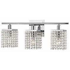 Elegant 3 Light Crystal Bathroom Vanity Light