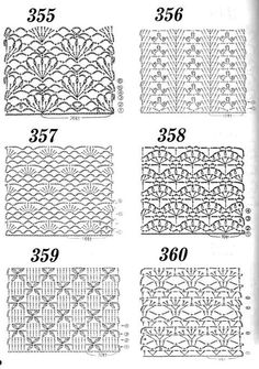 Stylowa kolekcja inspiracji z kategorii Hobby Crochet Symbols, Crochet Stitches Patterns, Knitting Stitches, Stitch Patterns, Knitting Patterns, Crochet Wool, Easy Crochet, Free Crochet, Crochet Diagram