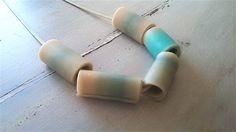 RIGA II / clay necklace / clay beads necklace / clay tubes necklace / polymer clay necklace 6