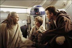 Qui-Gon Jinn, Anakin, and Obi-Wan