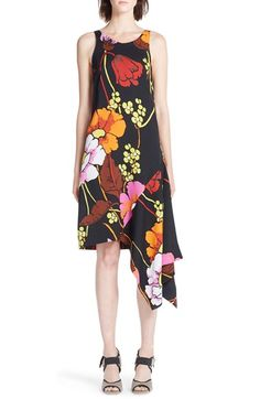 Marni 'Melody' Asymmetrical Floral Print Dress available at #Nordstrom