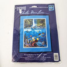 Candamar Designs Embellished Cross Stitch Eternal Rainbow Sea Sewing Kit Sealed #Igottahave Sea Pictures, Needlepoint Kits, Sewing Kit, Counted Cross Stitch Kits, Cross Stitch Designs, Sign Design, Large Prints, Seal, Rainbow