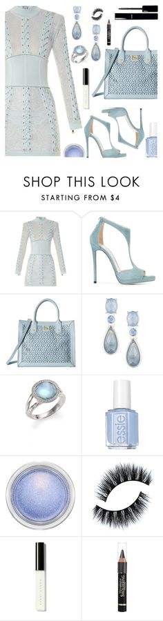 """Little Blue Dress"" by deborah-calton ❤ liked on Polyvore featuring Balmain, Jimmy Choo, Emma Fox, Anne Klein, Ippolita, Essie, MAC Cosmetics, Chanel, Bobbi Brown Cosmetics and Anrealage"