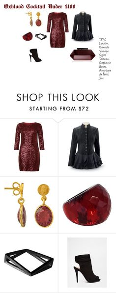 Oxblood Cocktail Under $100 by h6designinc on Polyvore featuring Lipsy, Call it SPRING, Angélique de Paris and Stephanie Bates