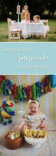 "These Baby's 1st Birthday ""Smash-Cake"" Alternatives Are Too Much! 1st Birthday Foods, 1st Birthday Cakes, Baby Girl First Birthday, First Birthday Photos, Half Birthday, Birthday Ideas, Birthday Gifts, Baby Cake Smash, Baby Boy Cakes"