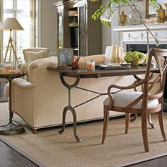 European Farmhouse - Chivalry Split Top Valet in Blond - - Stanley Furniture Desk In Living Room, Home And Living, Living Room Decor, Living Spaces, Living Rooms, Desk Behind Couch, Provence, Stanley Furniture, Home And Deco