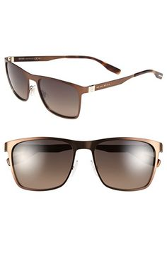 BOSS+57mm+Polarized+Sunglasses+available+at+#Nordstrom